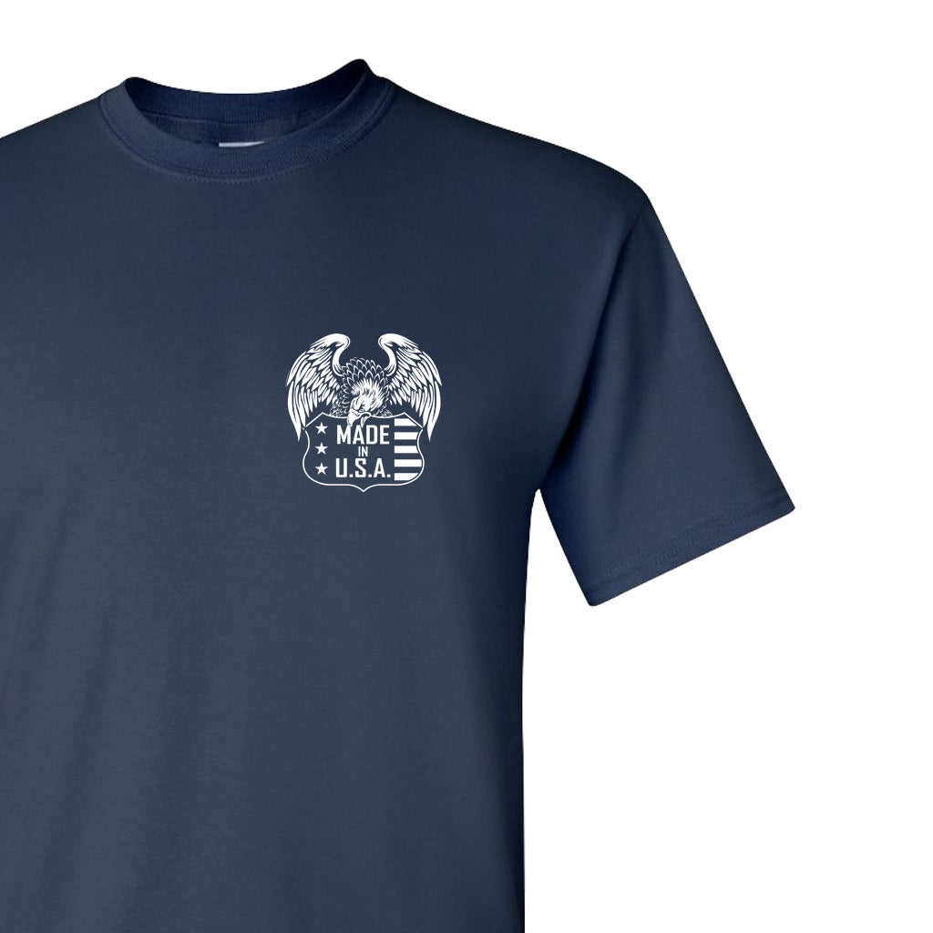 EAGLE USA - Navy Blue T-Shirt 100% Made in USA