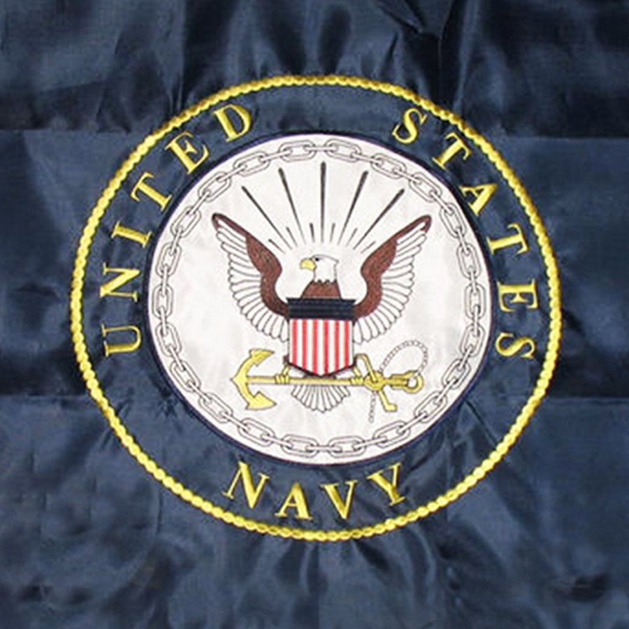 3x5 ft Navy Double Sided Embroidered Flag
