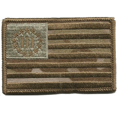 "MULTICAM-Arid - Three Percenter Flag Tactical Patch - 2"" x 3"""