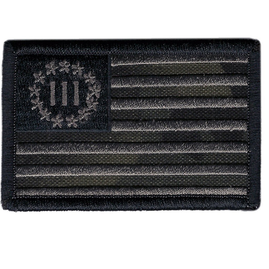"MULTICAM-Black - Three Percenter Flag - 2"" x 3"""