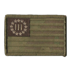 "MULTICAM - Three Percenter Flag Tactical Patch - 2"" x 3"""