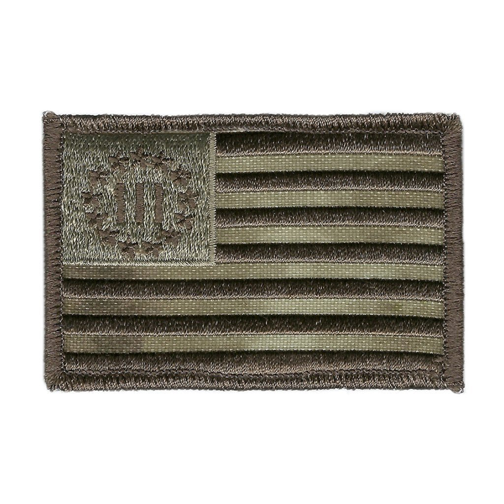 "ATACS-AU - Three Percenter Flag Tactical Patch - 2"" x 3"""