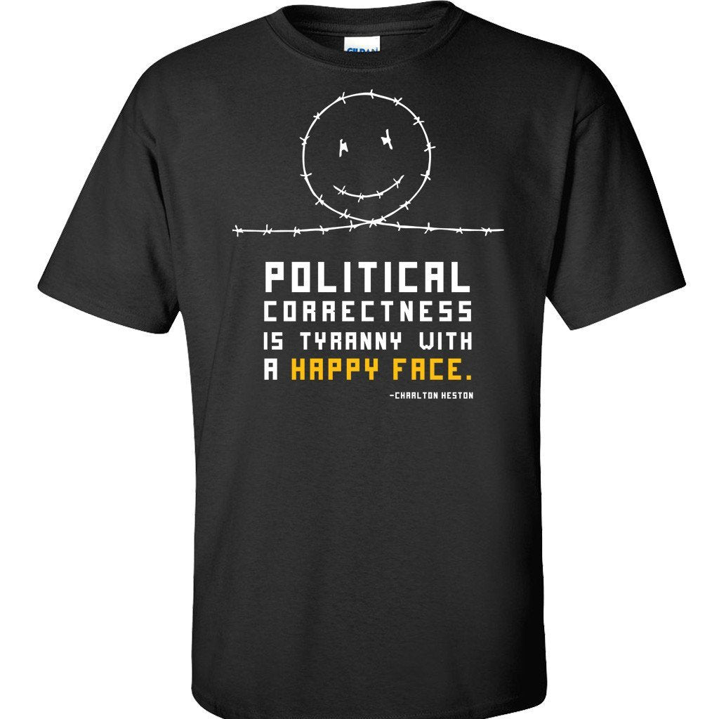 PC Happy Face Black T-Shirt
