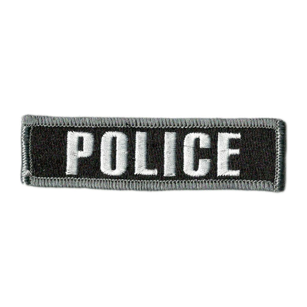 STATE POLICE Patch W// VELCRO® Brand Fastener Morale Tactical White Version 6 X 4