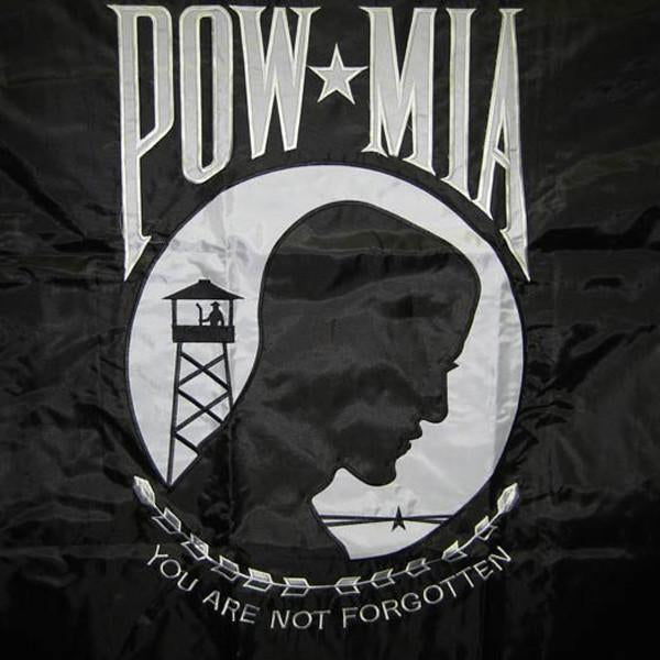 3x5 ft POW Double Sided Embroidered Flag - Nylon