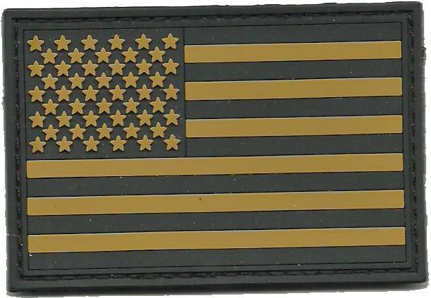 "PVC 2""x3"" USA FLAG PATCH for Tactical Cap"