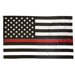 3x5 ft USA Thin Red Line Super-Poly Flag