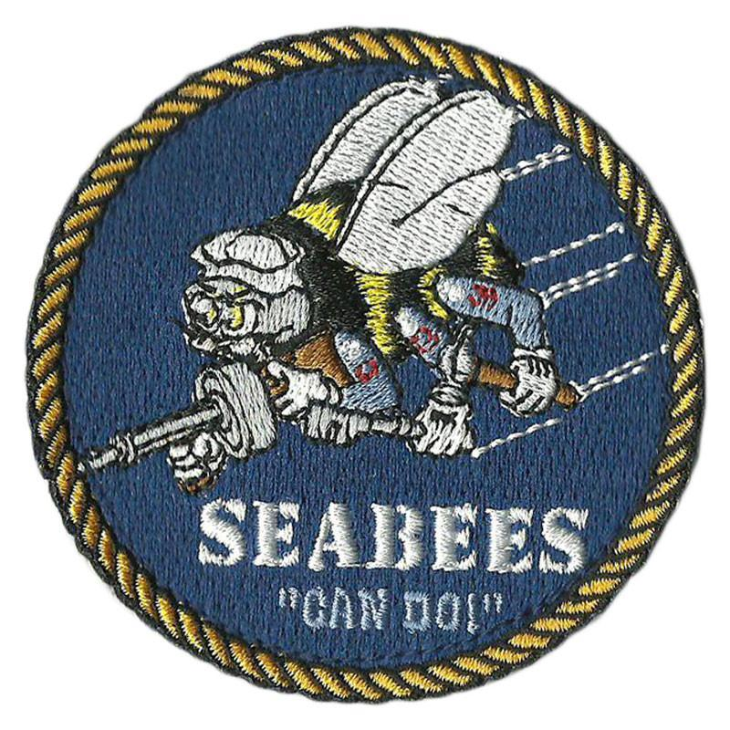 "3"" Dia. Seabees Tactical Patch"
