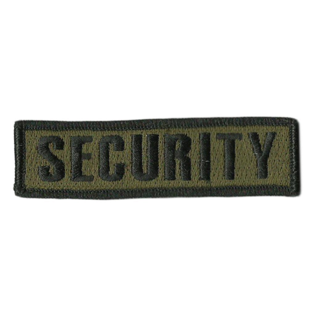 "1"" x 3 3/4"" SECURITY Morale Patch (Back of Hat)"