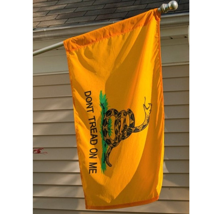 Sleeved 3 x 5 Ft Double Sided NYLON Gadsden Flag