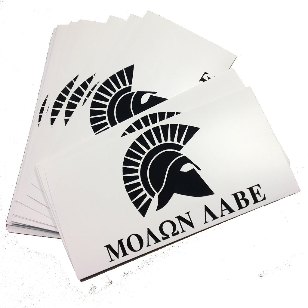 White Molon Labe Sticker