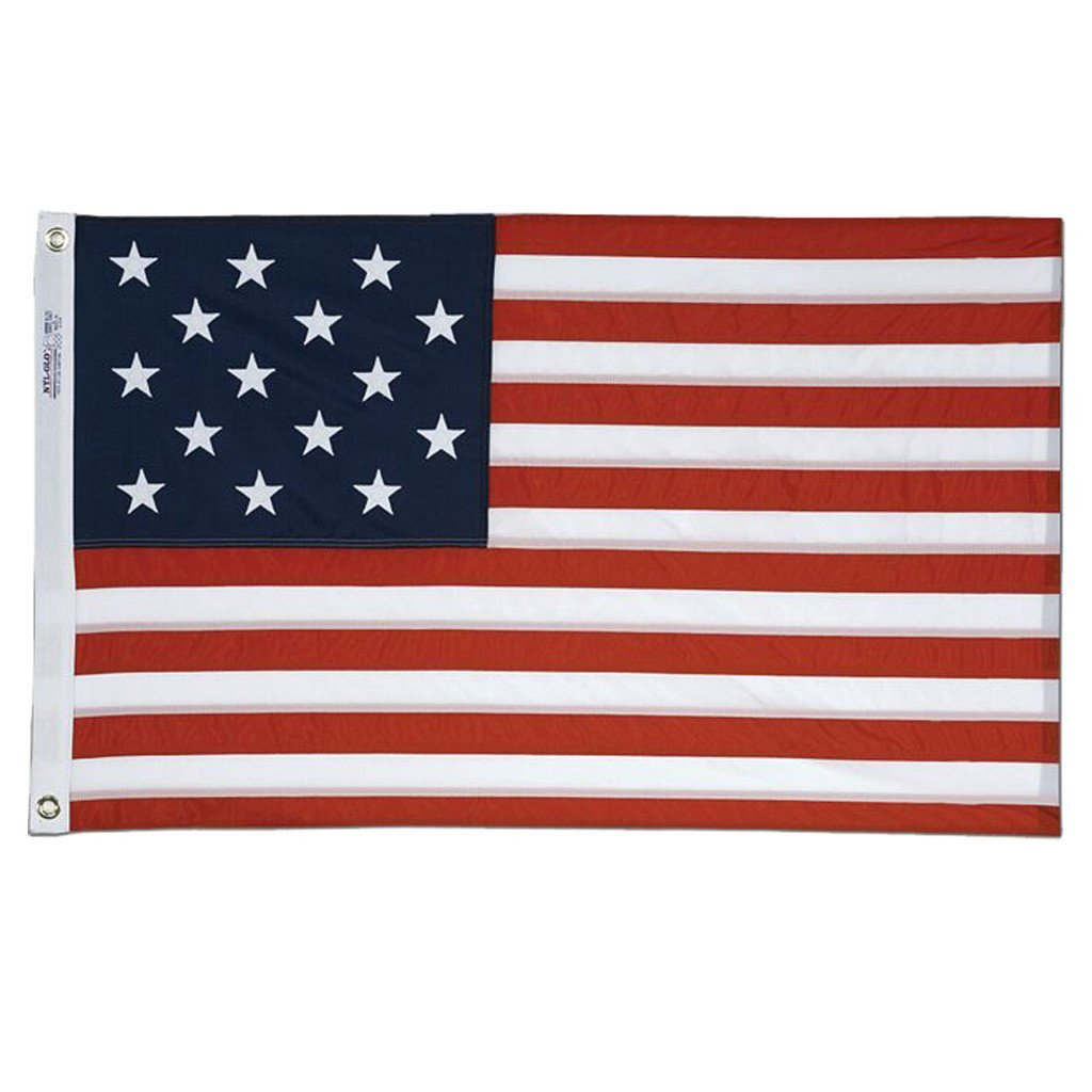 3x5 ft Star Spangled Banner Embroidered Nylon Flag - Annin Co.