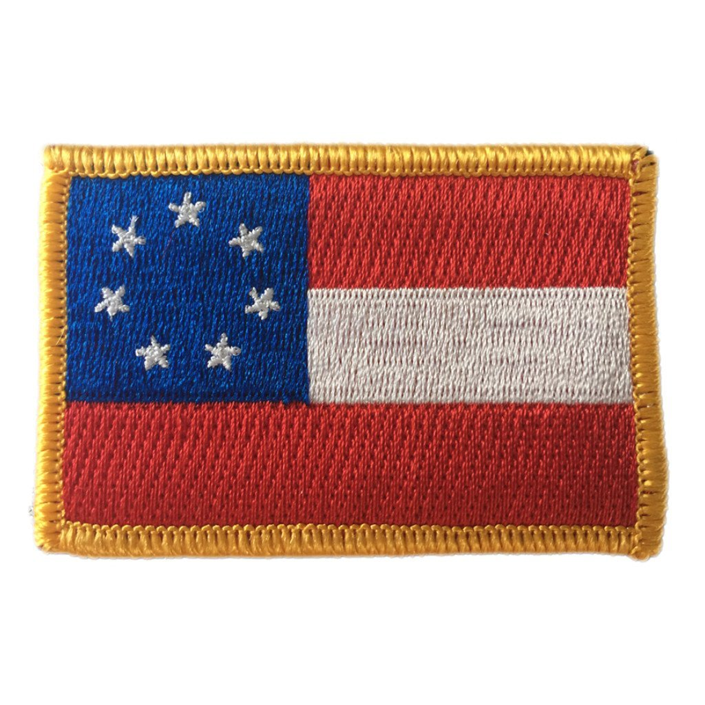 "2""x3"" Stars and Bars Patch - First Confederate"
