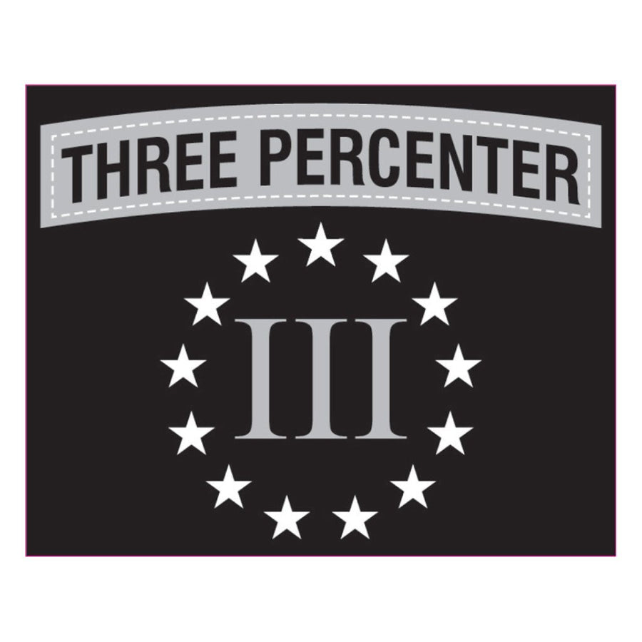 "Three Percenter Subdued Vinyl Sticker - 4""x5"""