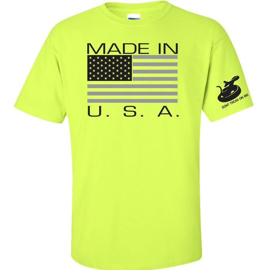 Made in USA - Safety Green HiVIS 50/50 blend
