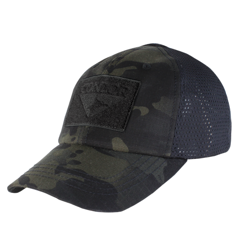 Mesh Camo Tactical Hat Builder - Multicam-Black