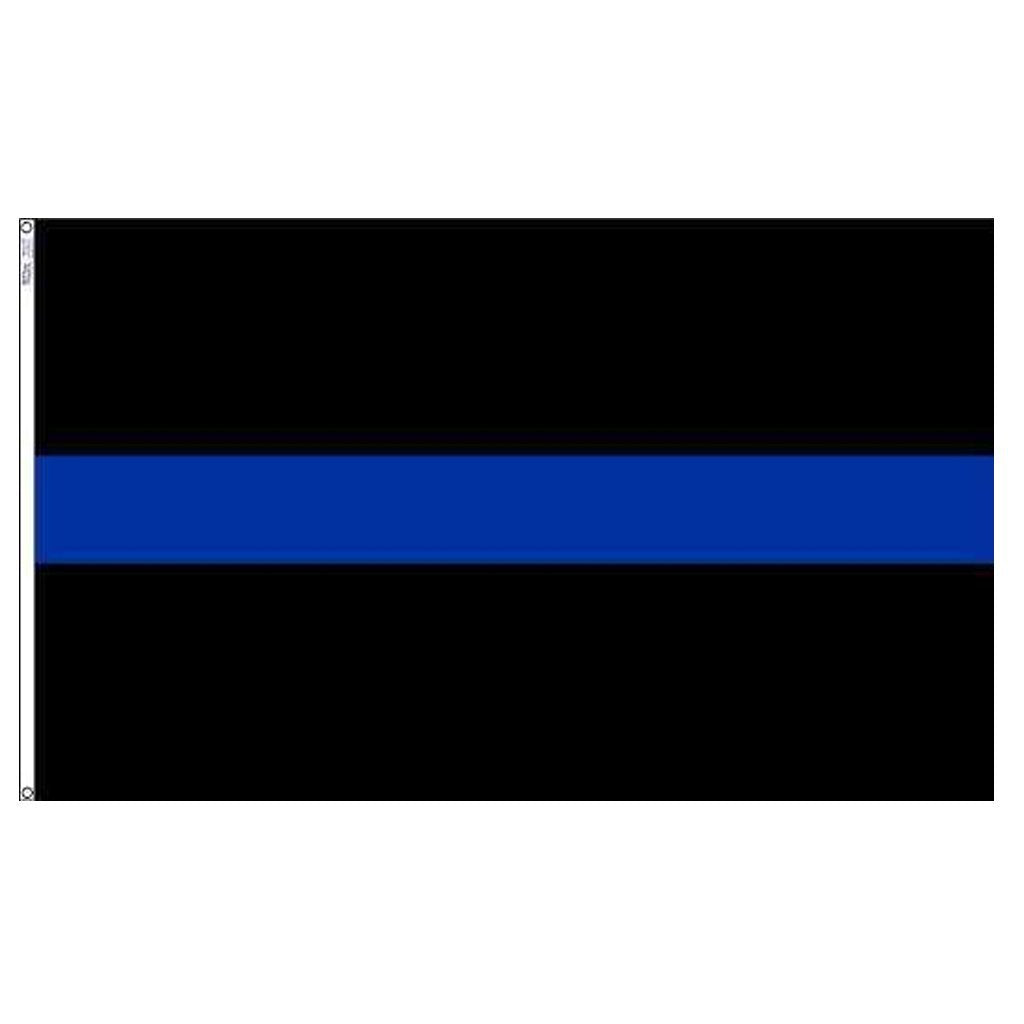 3x5 ft Thin Blue Line Super-Poly Flag
