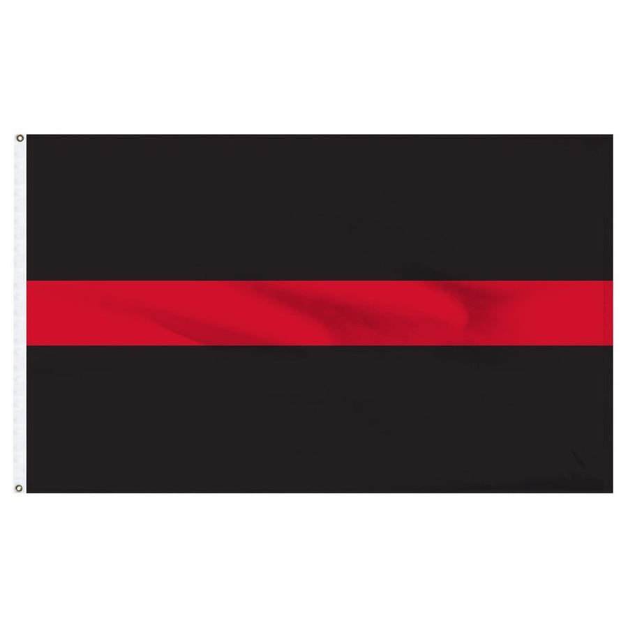 3x5 ft Thin Red Line Super-Poly Flag