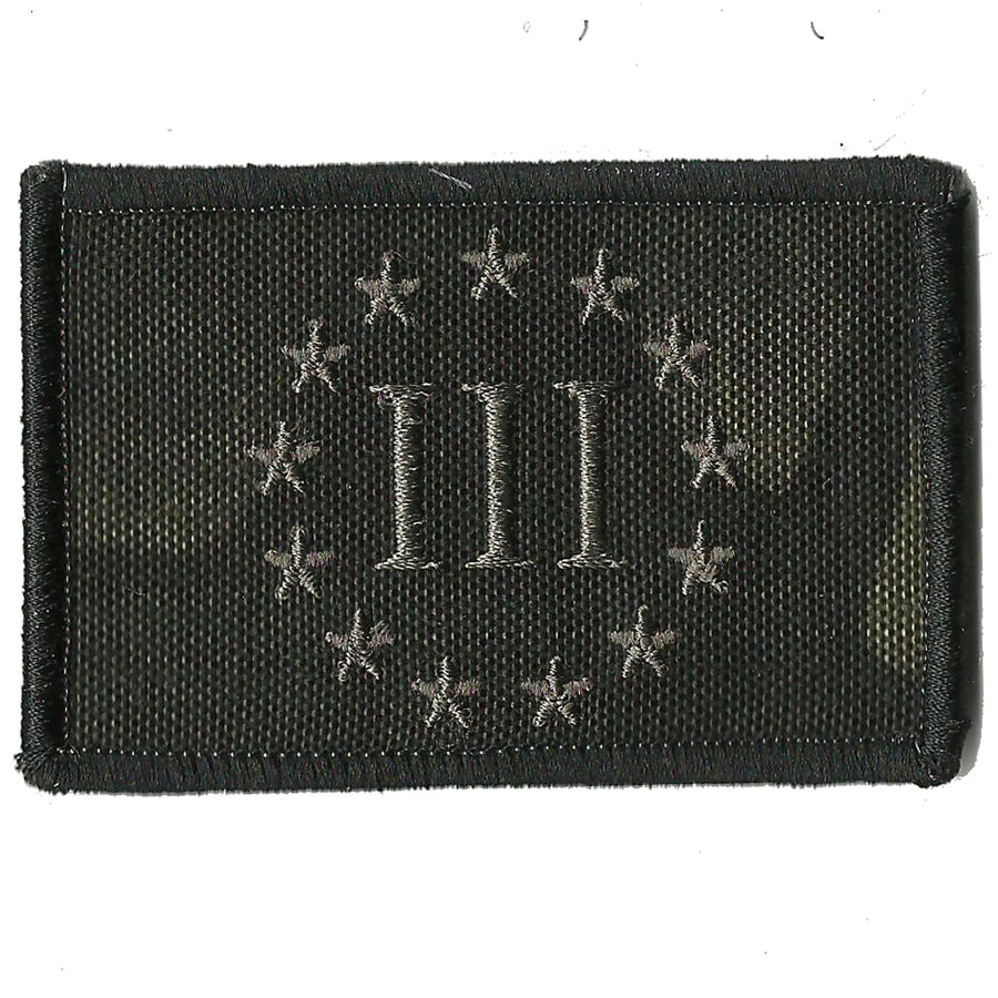 "MULTICAM-Black - Threeper Emblem - 2"" x 3"""