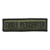 "Three Percenter Morale Patches 1"" x 3 3/4"""