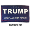 Keep America First 3x5 Super Poly Flag