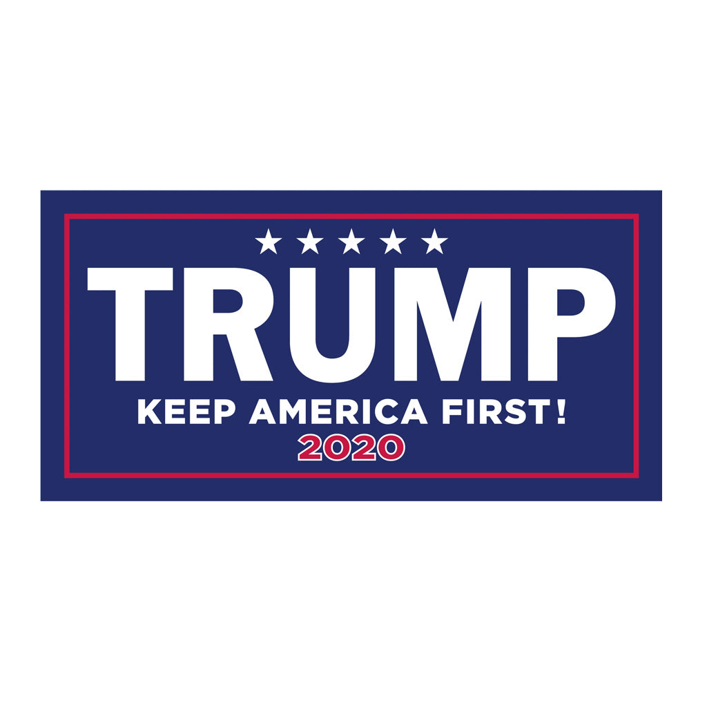"4 x 8"" TRUMP 2020 Keep America Great Bumper Sticker"