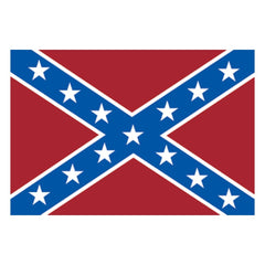 "4""x8"" Confederate Flag Vinyl Bumper Sticker"