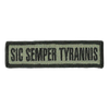 "1"" x 3.75"" Sic Semper Tyrannis Morale Patches"