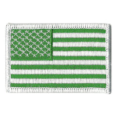 "2""x3"" Tactical USA Patch - Green"