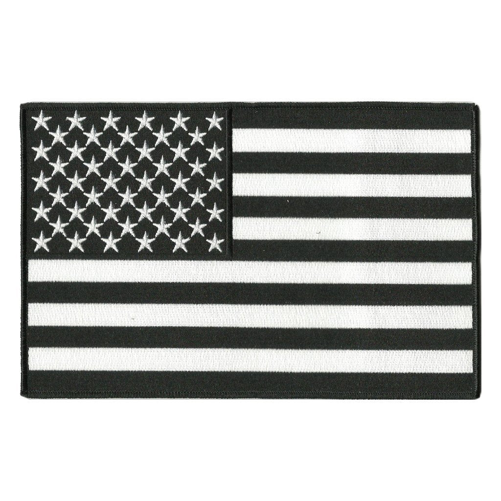 USA Flag Patches - Motorcycle Vest - Iron-On