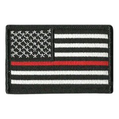 "2""x3"" Thin Red Line Flag Patch"