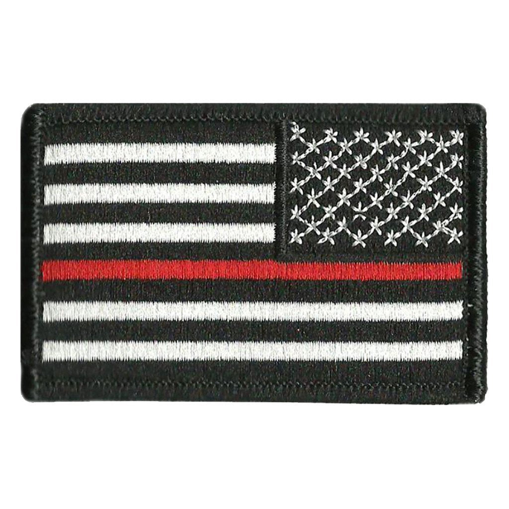 "2""x3"" Thin Red Line Flag Patch - Reverse"