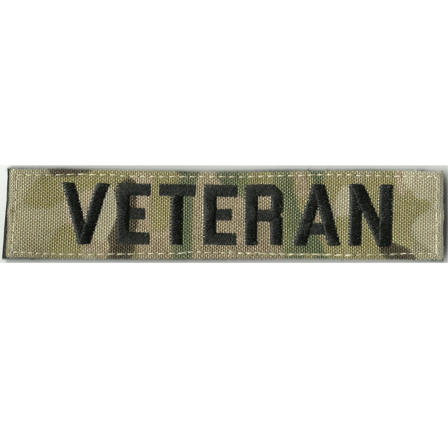 """VETERAN""  MULTICAM Name Tape - 1"" x 5"""