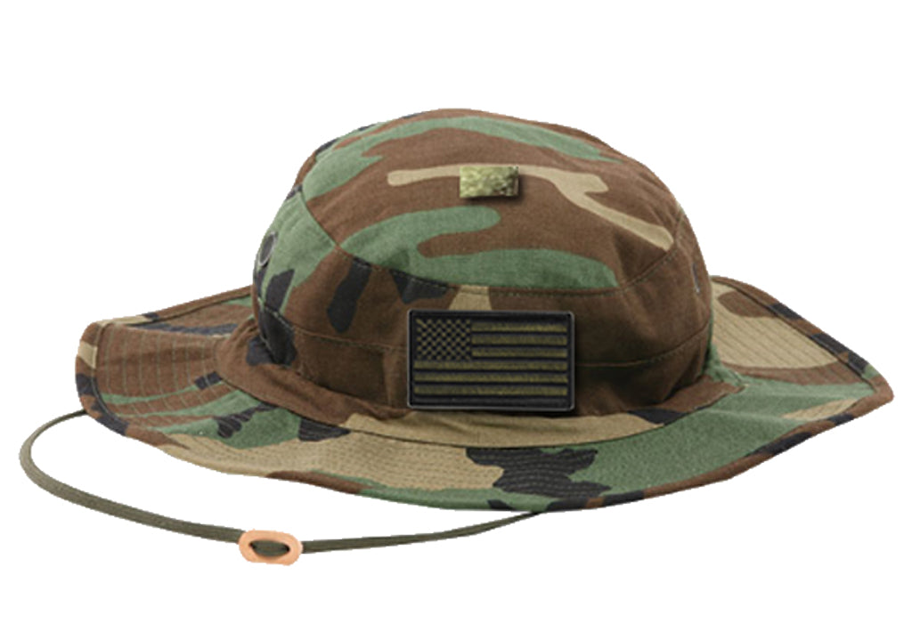 Tru-Spec Contractor Boonie - Woodland w/OD USA Patch
