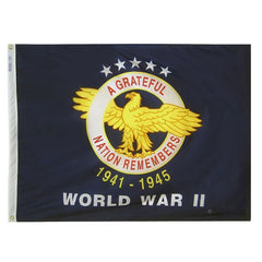 3x4 Ft World War II COMMEMORATIVE Nylon - Annin Co.