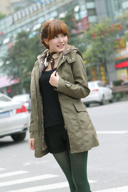 Women's Warm Winter Faux Fur Lined Coats