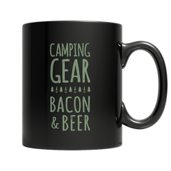 Camping Gear Bacon And Beer