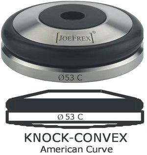 Convex Espresso Tamper Base with Knock Ring - 53mm - at Total Espresso