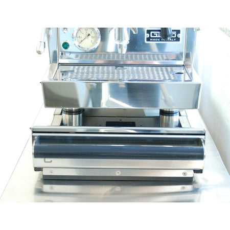 Commercial Knock Box Drawers - model Medium with Bezzera espresso machine on top - at Total Espresso