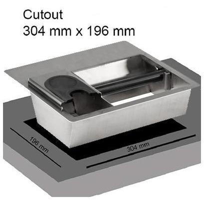 Knock Box - Countertop Combination with Tamping Station - cutout dimensions - at Total Espresso