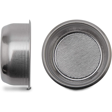 Lelit 57mm 20 g Filter basket - top and side views - at Total Espresso