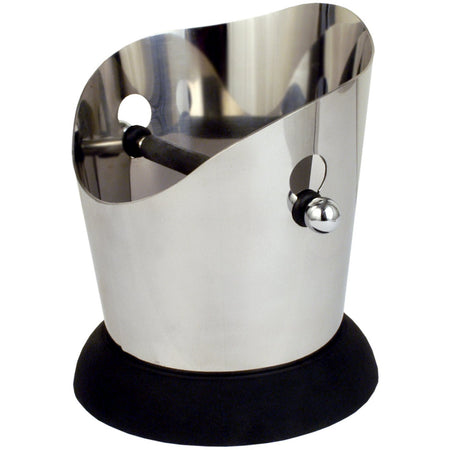 Round Stainless Steel Knock Box - at Total Espresso