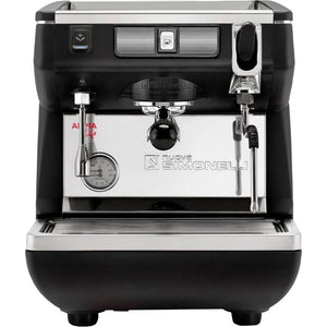 Nuova Simonelli Appia Life 1  Group Semi-Automatic Espresso Machine Black Front View - at Total Espresso