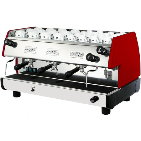 La Pavoni BAR-T Series - 3 Group (Volumetric) Commercial Machine - Red - at Total Espresso