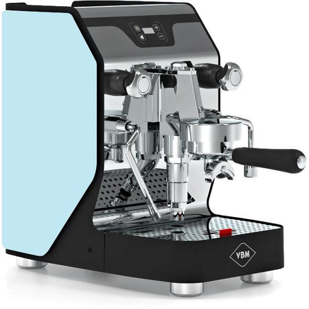 VBM Domobar Junior Digital Heat Exchange Espresso Machine – with light blue side panels - at Total Espresso