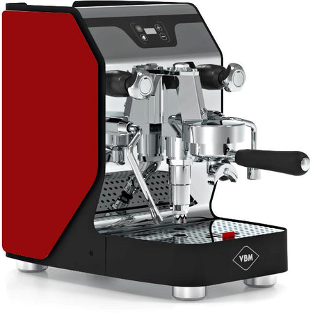 VBM Domobar Junior Digital Heat Exchange Espresso Machine – with red side panels - at Total Espresso