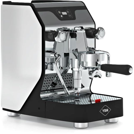 VBM Domobar Junior Digital Heat Exchange Espresso Machine – left front quarter view - at Total Espresso