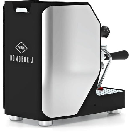 VBM Domobar Junior Digital Heat Exchange Espresso Machine – left rear quarter view - at Total Espresso