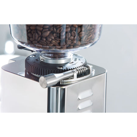 ECM S-Manuale 64 Espresso Grinder – Stepless, Doserless, 64 mm Burrs - grind wheel detail - at Total Espresso