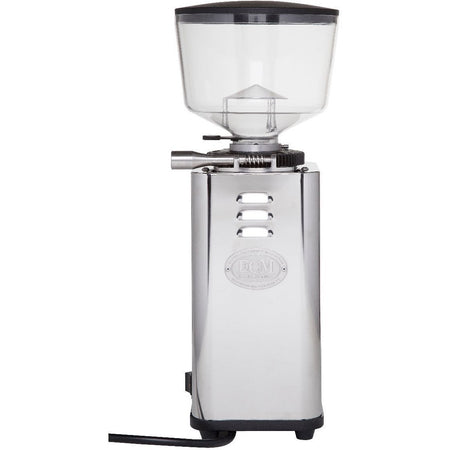 ECM S-Manuale 64 Espresso Grinder – Stepless, Doserless, 64 mm Burrs - left side view - at Total Espresso